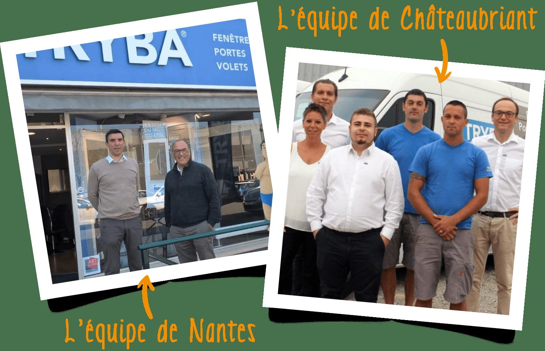 Équipes de Nantes et Châteaubriant